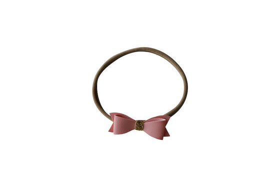Skinny Nylon Bow Headband