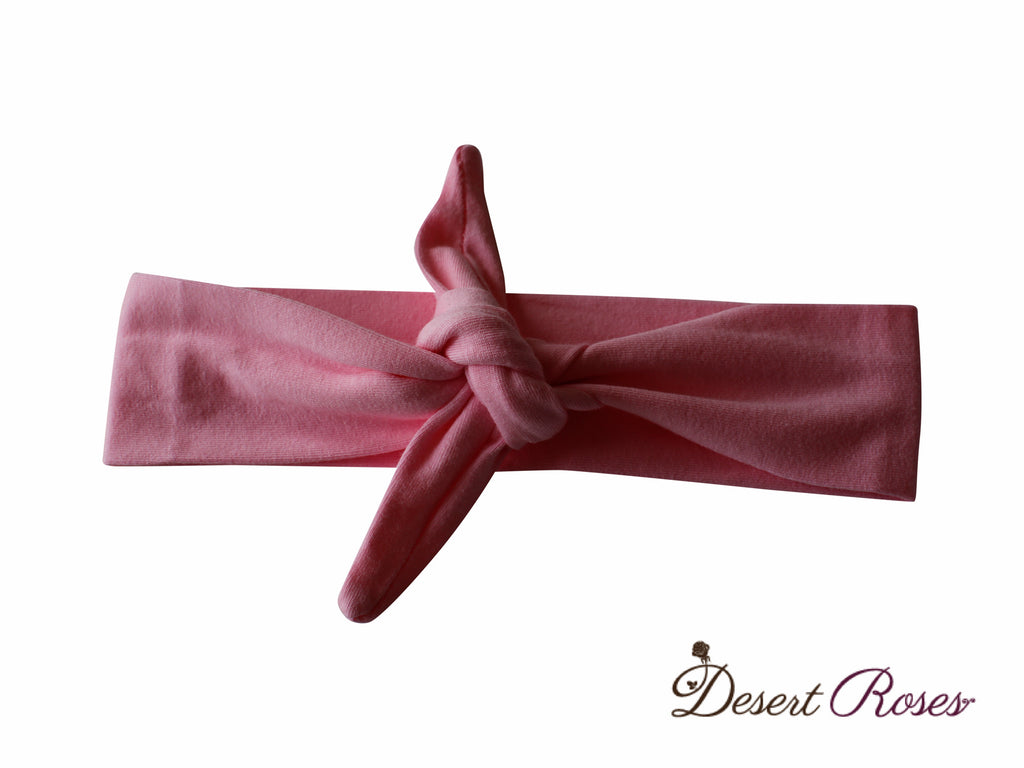 Solid Top Knot Headband - Desert Roses - 1