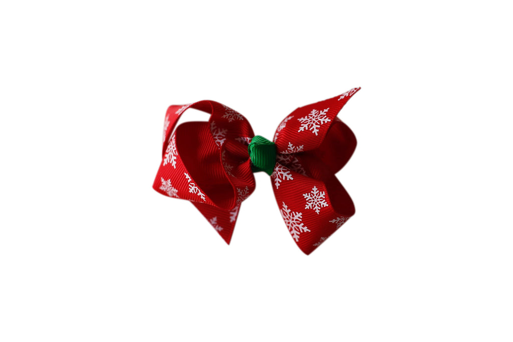 Red Boutique Snowflake Bow