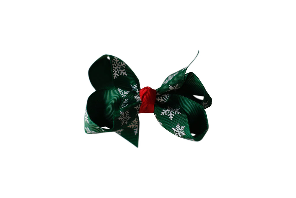 Forest Green Snowflake Bow
