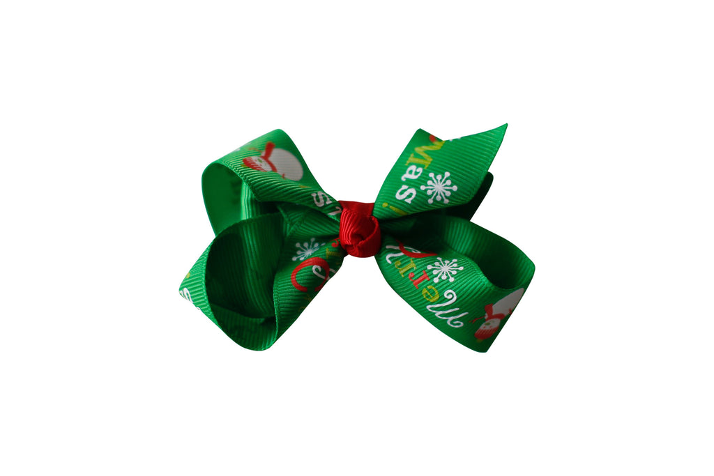 Green Merry Xmas Bow