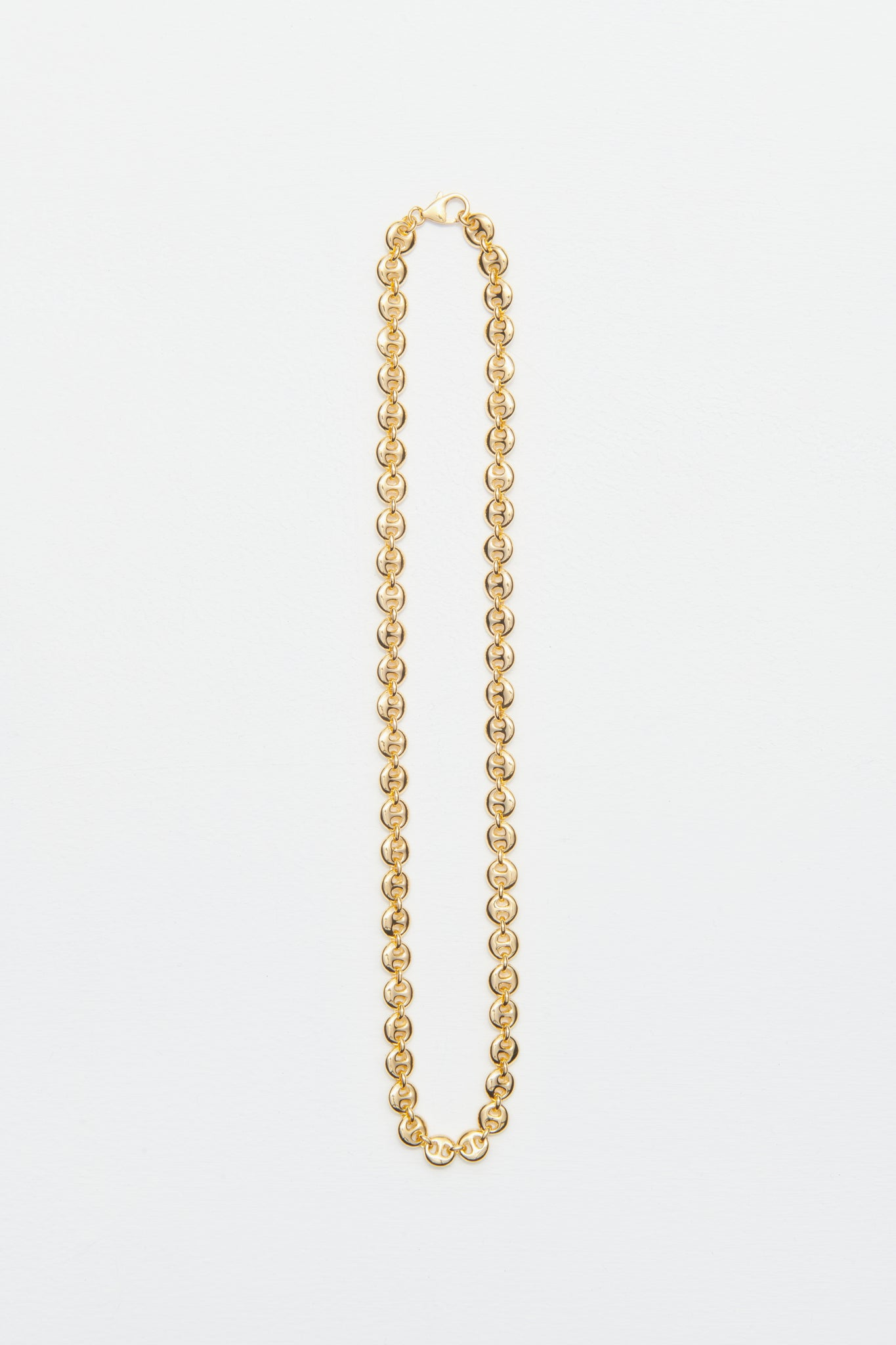 18K GOLD CIRCLE LINK NECKLACE