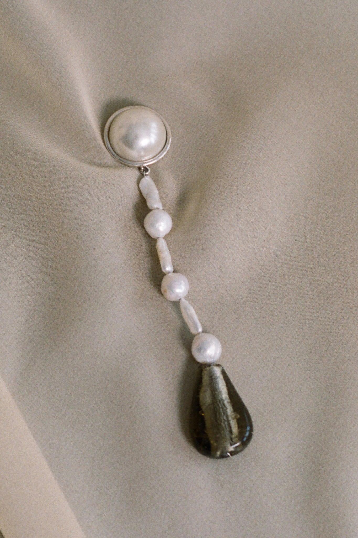 ASSEMBLAGE PEARL DROP EARRINGS