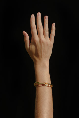 LARGE RECTANGULAR CHAIN BRACELET