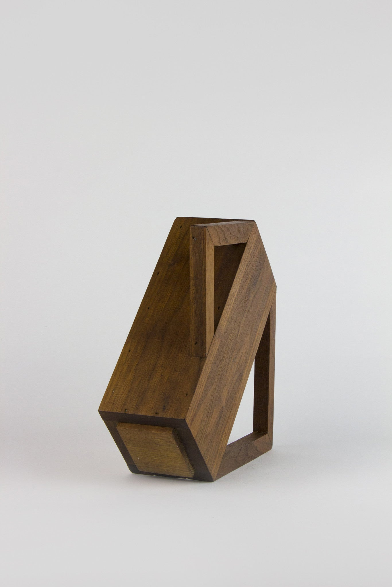SCULPTURAL WOOD VASE