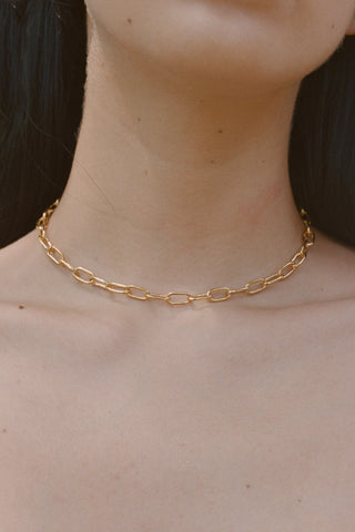SMALL RECTANGULAR CHAIN COLLAR