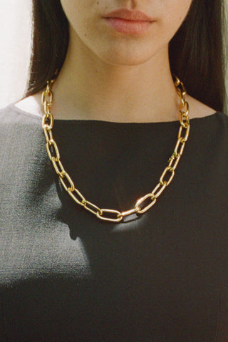 LARGE RECTANGULAR CHAIN COLLAR