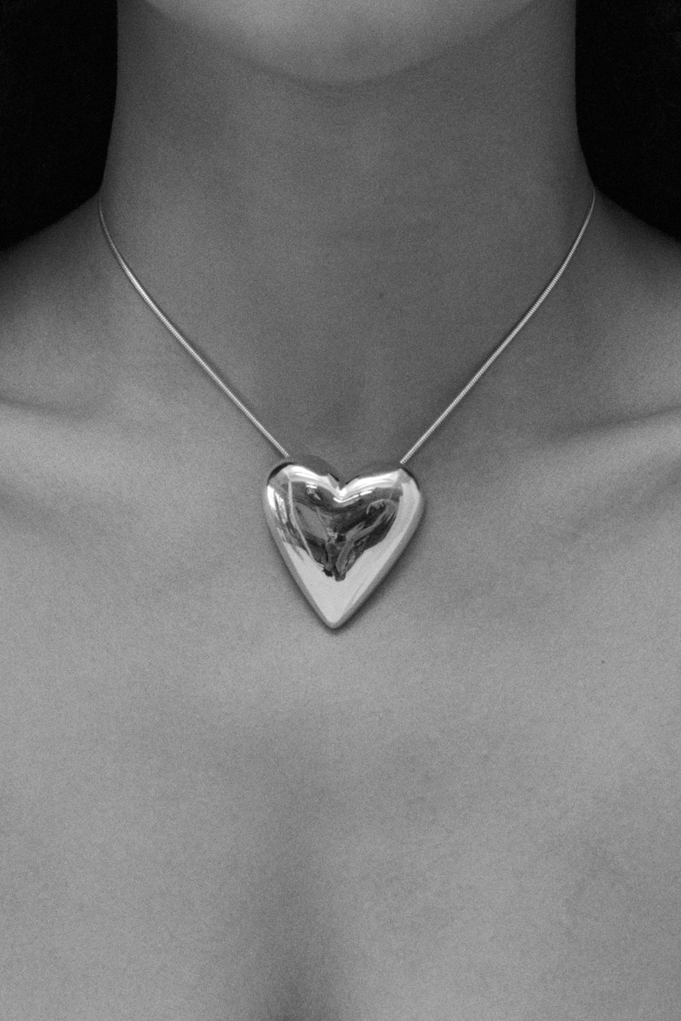 Sophie Buhai sterling silver heart pendant on 1.4mm snake chain with lobster clap