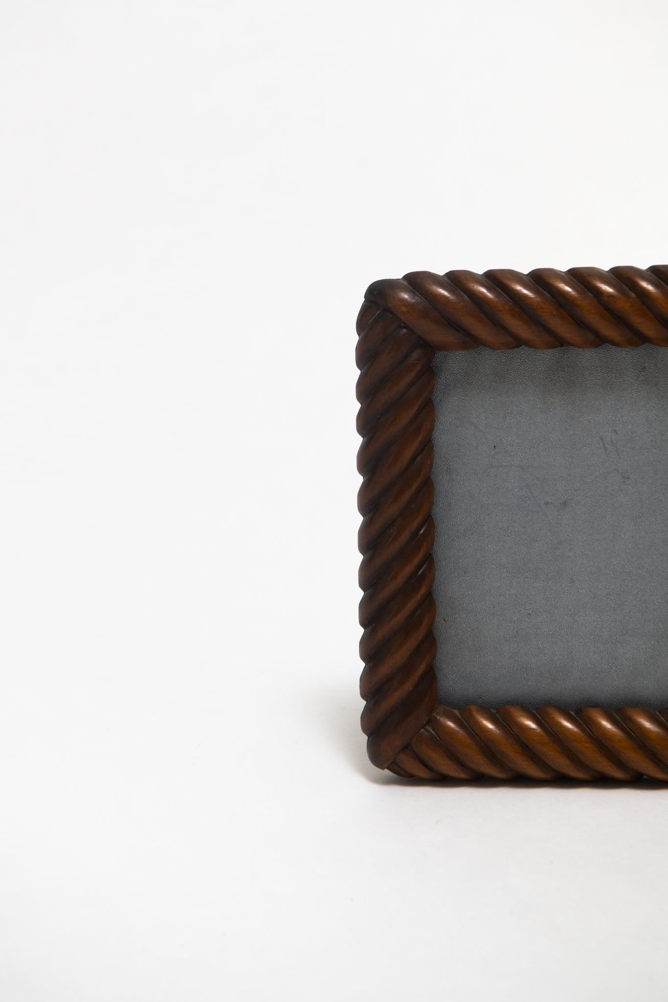 FRENCH, MID-CENTURY ROPE PHOTO FRAME, C. 1950