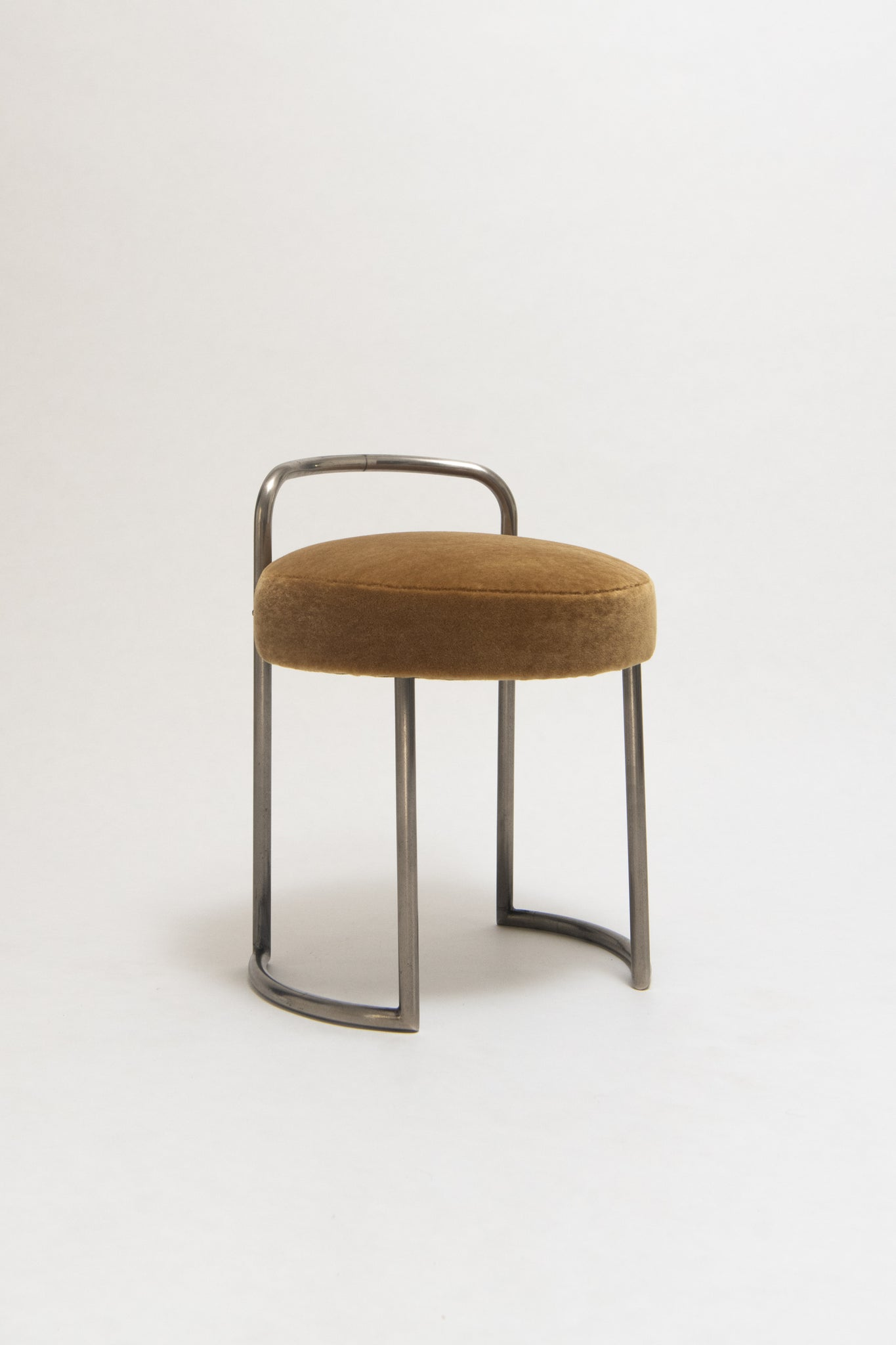 LOUIS SOGNOT, TUBULAR METAL STOOL, C. 1930