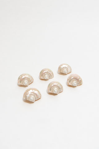 AMERICAN, SET OF SHELL NAPKIN RINGS, C. 1940