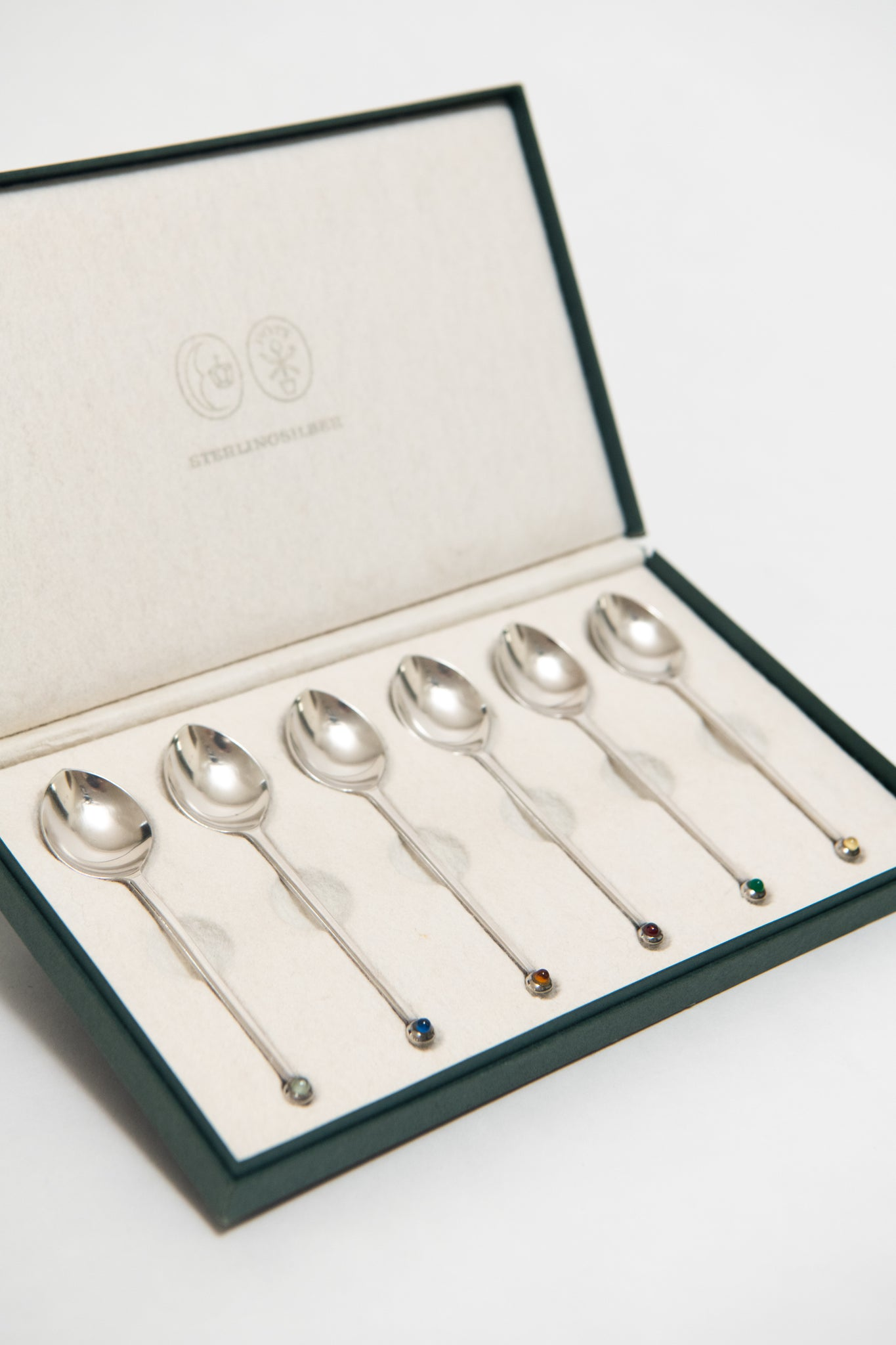 JOSEF HOFFMANN, SILVER TEASPOON SET, C. 1955