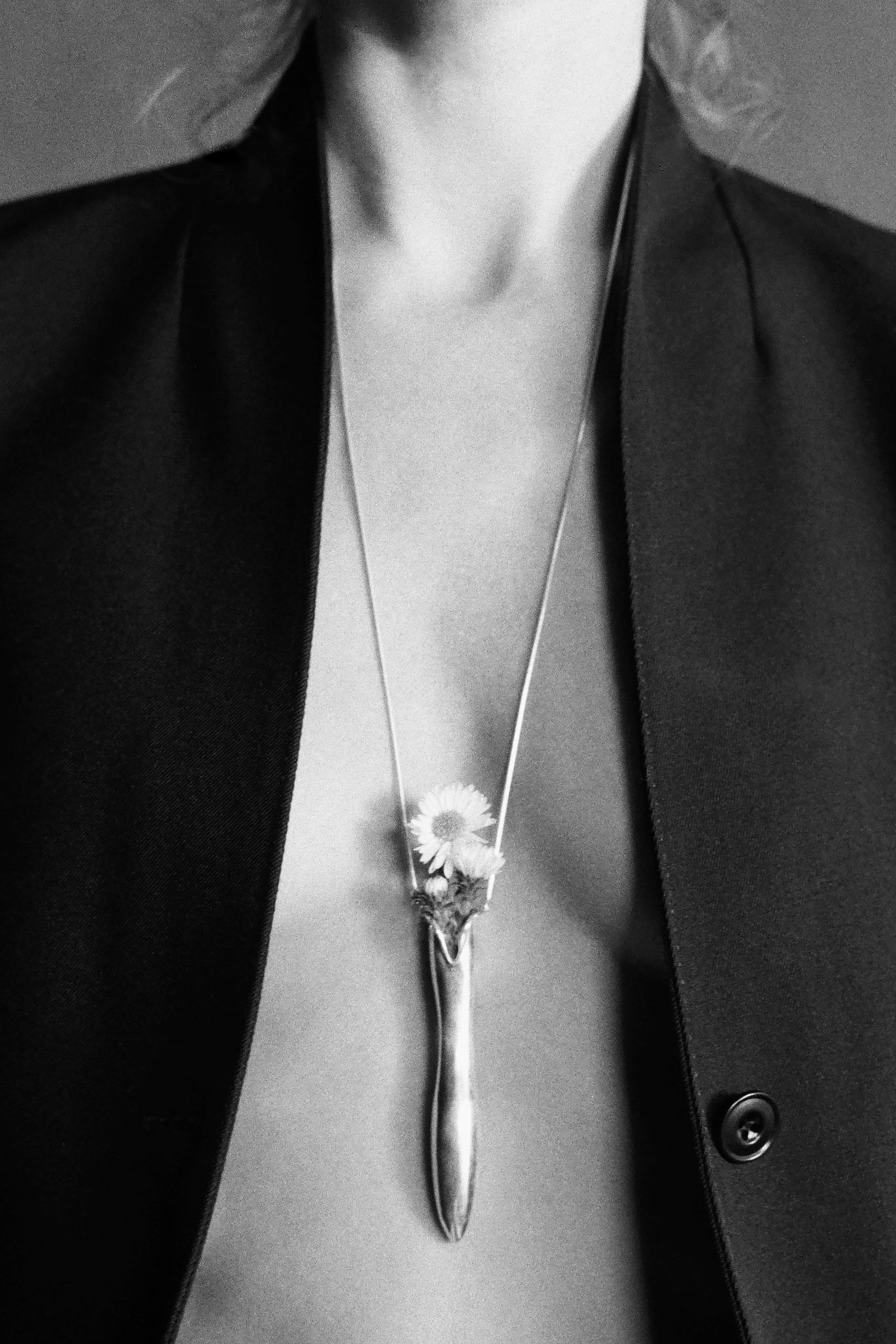 Sophie Buhai Sterling Silver vessel pendant necklace on 1.4mm double rope chain handmade in los angeles