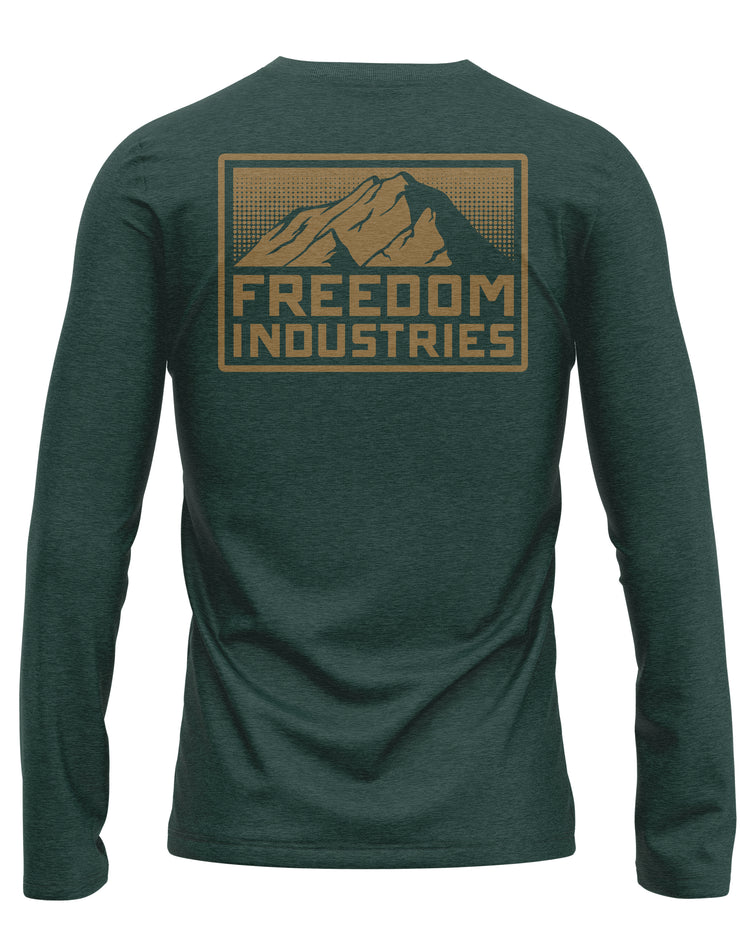 MTN PLUS LONG SLEEVE TEE - ALPINE - FREEDOM INDUSTRIES (4479184240712)