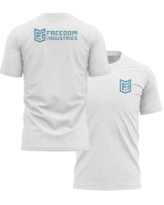 LOGO CORE TEE -ASH - FREEDOM INDUSTRIES (4606376902728)