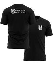 LOGO CORE TEE - BLACK - FREEDOM INDUSTRIES (4606359109704) (4606376902728)