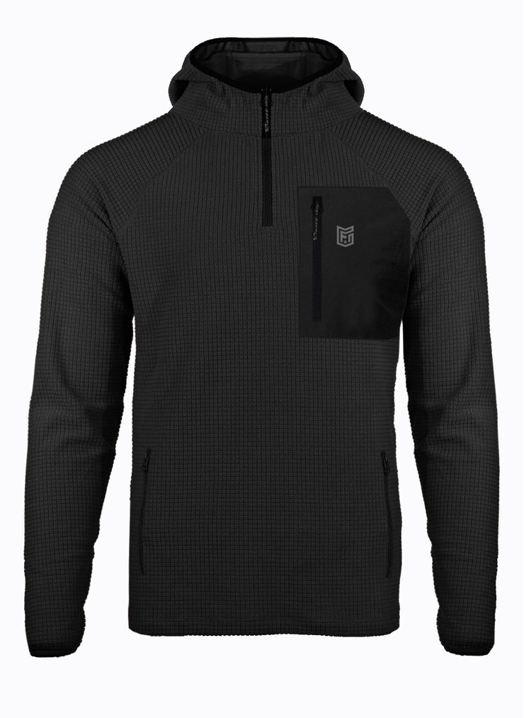 RADIASE®  THERMAL GRID POCKET 1/4 ZIP HOODY MEN'S (5858006237256)