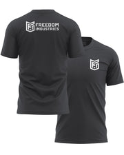 LOGO CORE TEE - CHARCOAL - FREEDOM INDUSTRIES (4606361567304) (4606376902728)
