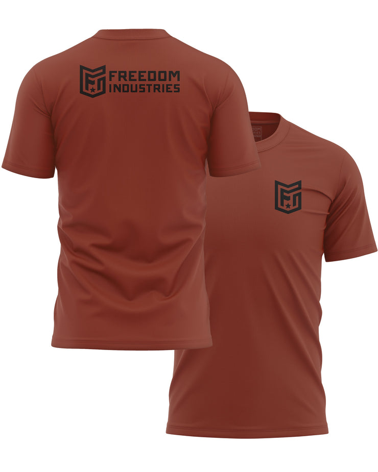 LOGO CORE TEE - CLAY - FREEDOM INDUSTRIES (4606356979784) (4606376902728)