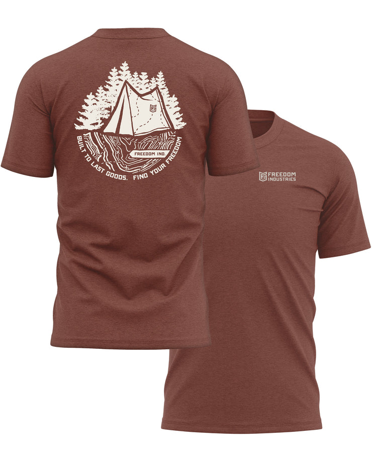 TOPO PLUS TEE - CLAY - FREEDOM INDUSTRIES (4605804150856) (4479291818056)