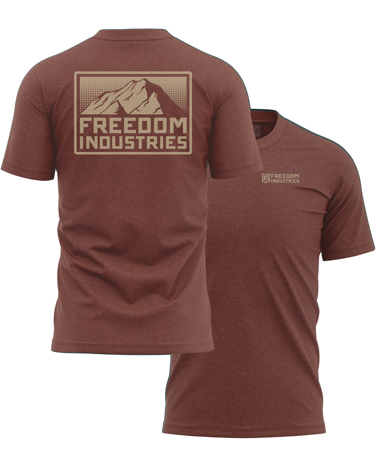 MTN PLUS TEE -  CLAY - FREEDOM INDUSTRIES (4479288705096)