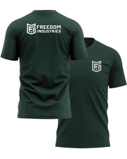 LOGO CORE TEE - FOREST - FREEDOM INDUSTRIES (4606339350600) (4606376902728)