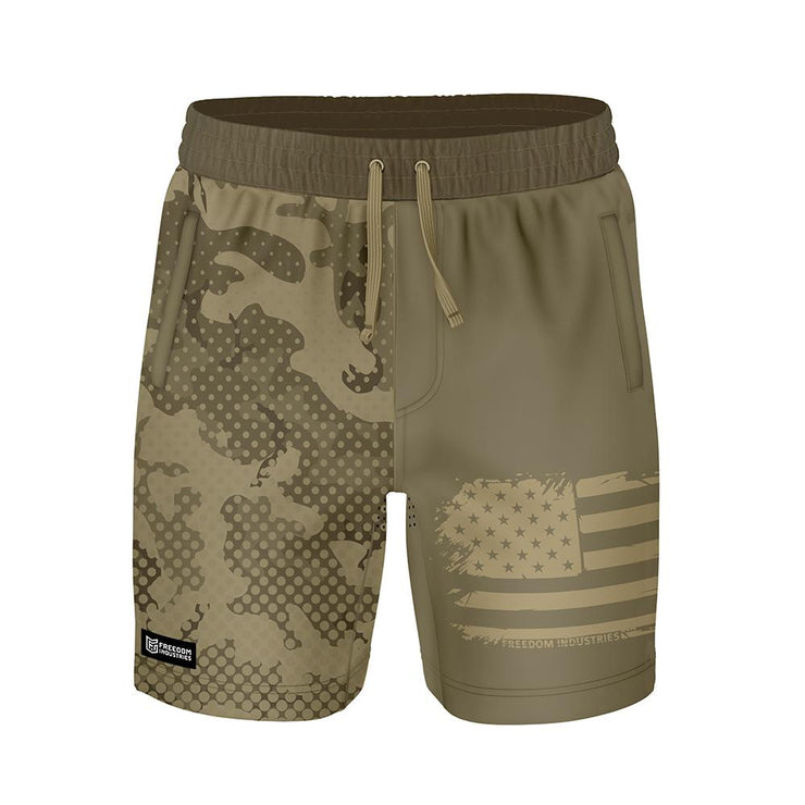 ADAPT+ HYBRID WATER SHORT - KHAKI HALFTONE - FREEDOM INDUSTRIES (4560904912968) (4560879943752)