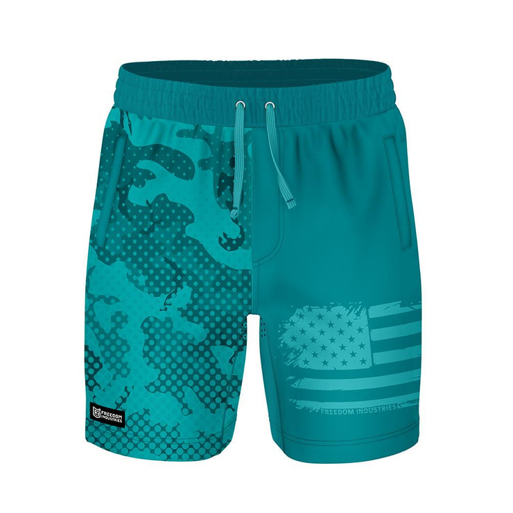 ADAPT+ HYBRID WATER SHORT - TIDE POOL HALFTONE - FREEDOM INDUSTRIES (4560911925320) (4560879943752)