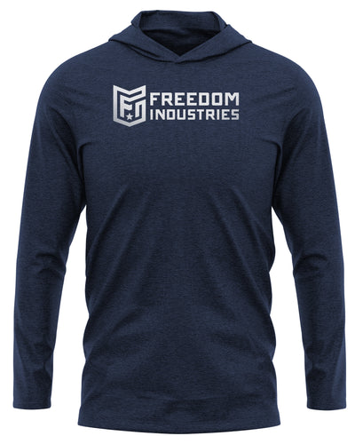 FORWARD LOGO PRINT PLUS - ROGUE RIVER HOODED LONGSLEEVE - FREEDOM INDUSTRIES (4467788677192)