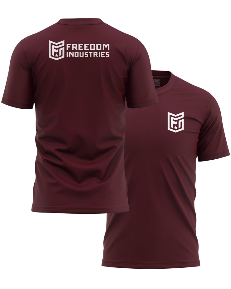 LOGO CORE TEE - MAROON - FREEDOM INDUSTRIES (4606373232712) (4606376902728)