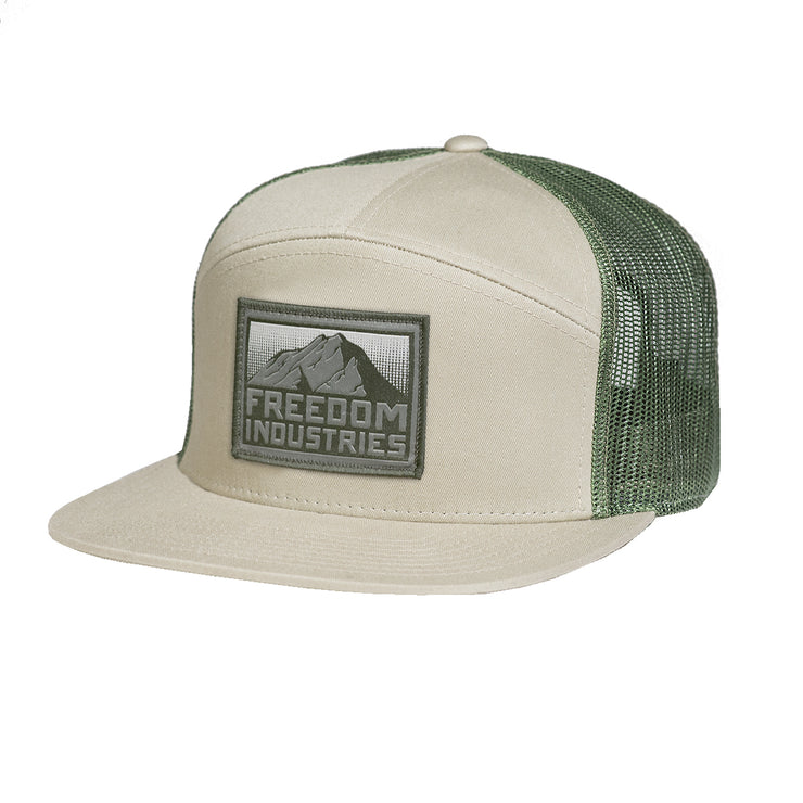 MTN CAMP TRUCKER HAT - FREEDOM INDUSTRIES (4454868648008)