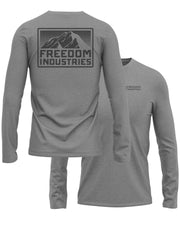 MTN PLUS LONG SLEEVE TEE - GREY - FREEDOM INDUSTRIES (4479290277960) (4479184240712)