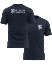 LOGO CORE TEE - NAVY - FREEDOM INDUSTRIES (4606358192200) (4606376902728)