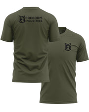 LOGO CORE TEE - OLIVE - FREEDOM INDUSTRIES (4606363402312) (4606376902728)