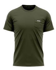 FORWARD POCKET DAILY SHIRT - OLIVE - FREEDOM INDUSTRIES (4457155461192) (4457147695176)
