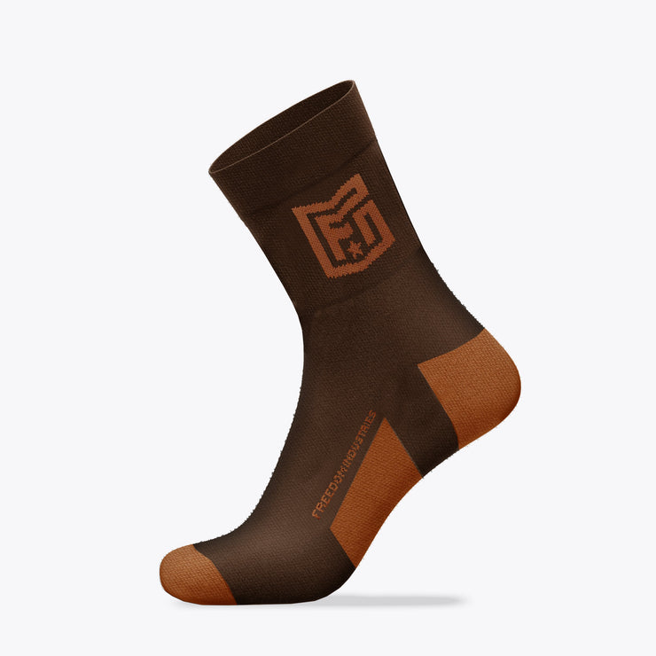 SHIELD CREW PERFORMANCE SOCK - CARAFE BROWN (5010827509832) (5010822234184)