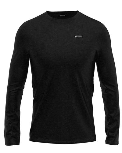FORWARD PLUS LONGSLEEVE SHIRT - BLACK - FREEDOM INDUSTRIES (4457271787592)