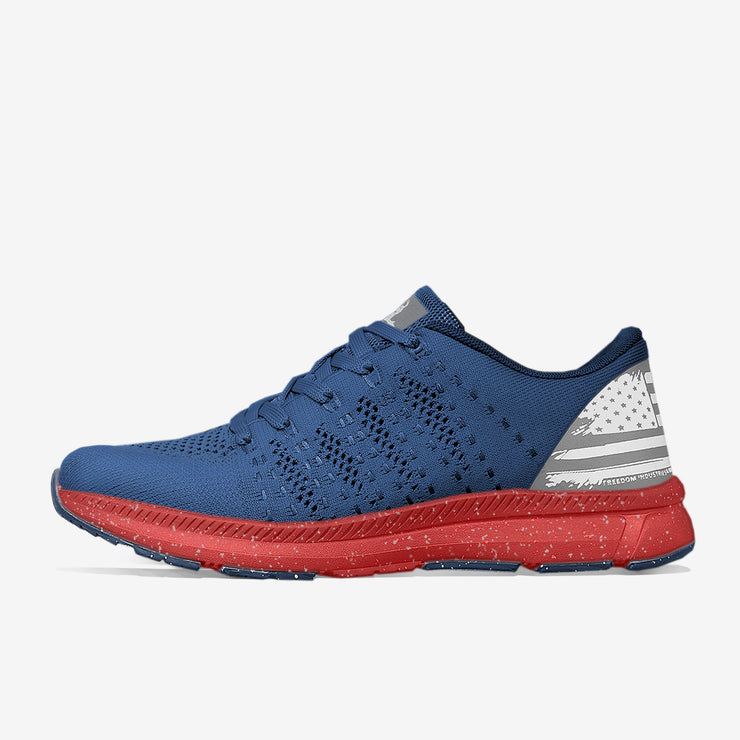 FREEKNITV1™ SHOE | BLUE / RED - FREEDOM INDUSTRIES (4022374334536)