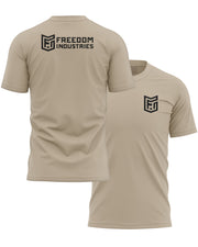 LOGO CORE TEE - TAN - FREEDOM INDUSTRIES (4606365499464) (4606376902728)