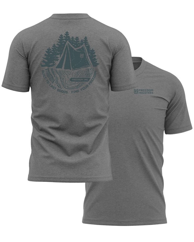 TOPO PLUS TEE - DARK GREY - FREEDOM INDUSTRIES (4481968046152) (4479291818056)