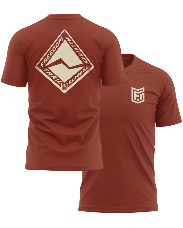 F.I. TRAIL RUN CORE TEE - CLAY - FREEDOM INDUSTRIES (4606282956872) (4606377885768)