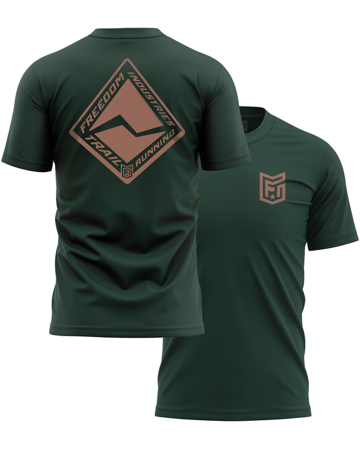 F.I. TRAIL RUN CORE TEE - FOREST - FREEDOM INDUSTRIES (4606280171592) (4606377885768)