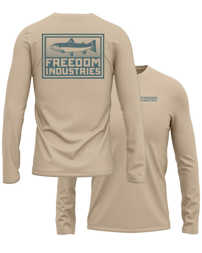 TROUT PLUS LONG SLEEVE TEE - SAND - FREEDOM INDUSTRIES (4479135383624)