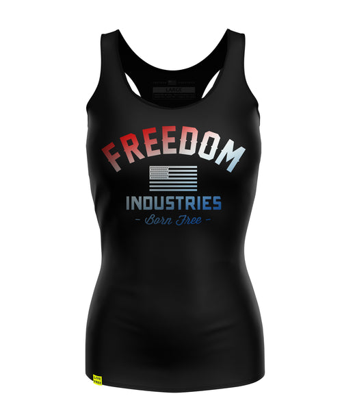 RWB FADED VARSITY | WOMENS RACERBACK TANK TOP