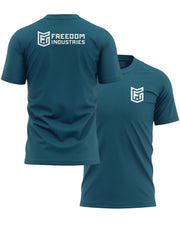 LOGO CORE TEE - ZINC - FREEDOM INDUSTRIES (4606369857608) (4606376902728)