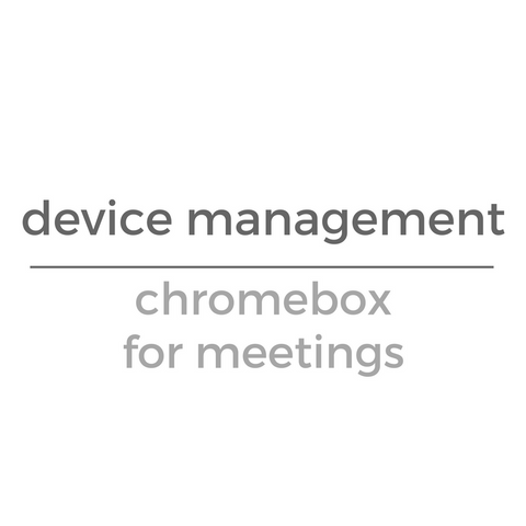 Chromebox for Meetings (Annual License)