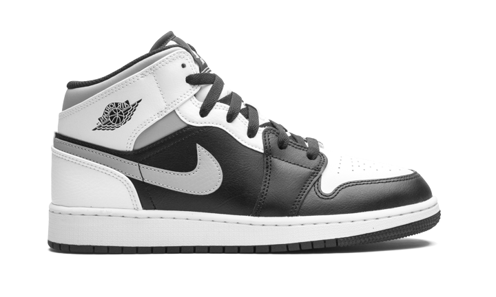 Grade School Youth Sizes Nike Air Jordan Retro 1 Mid 'White Shadow' 554725 073