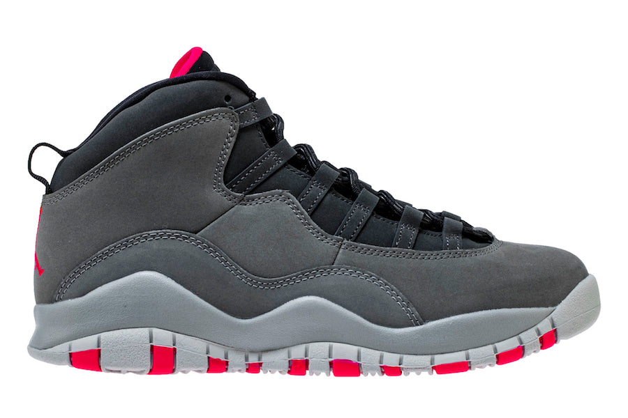 "Grade School Youth Size Nike Air Jordan Retro 10 ""Smoke Grey"" 487211 006"