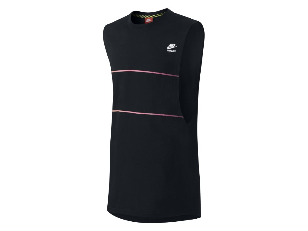 Men's Nike T-Shirt Elongated Track & Field Tank Top 653881 010