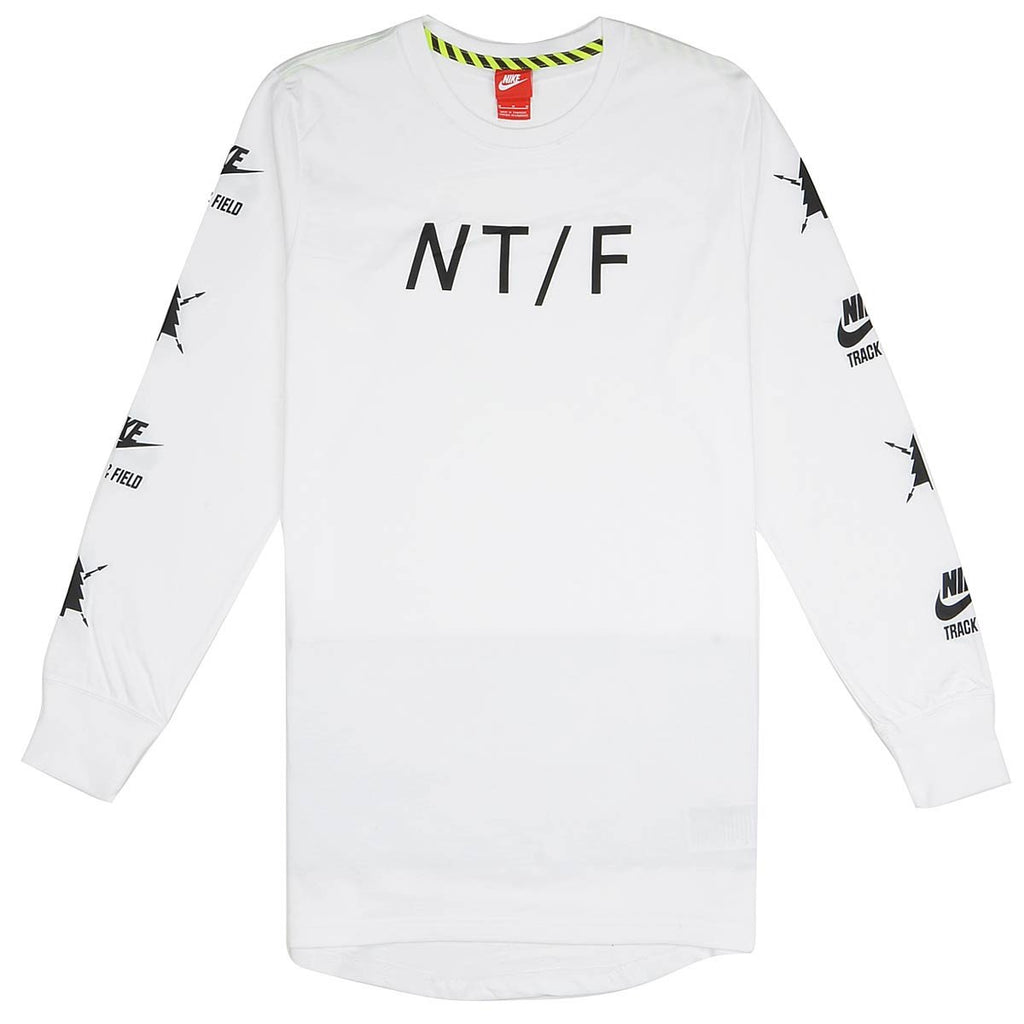 Men's Nike T-Shirt NT/F Long Sleeve 694140 100 White/Black